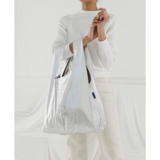 アパルトモンドゥーズィエムクラス(L'Appartement DEUXIEME CLASSE)の新品未使用【BAGGU / バグー 】メタリック バッグ シルバー スタンダード(エコバッグ)