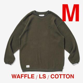 ダブルタップス(W)taps)の20AW★WTAPS★WAFFLE / LS / COTTON★OLIVE★M(Tシャツ/カットソー(七分/長袖))