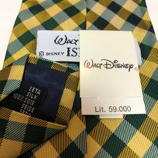 ディズニー(Disney)のディズニー  ミッキーマウスチェックネクタイ  新品 未使用 タグ付き(ネクタイ)