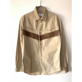トーガ(TOGA)のtoga virilis トーガヴィリリース 長袖 フリンジシャツ ベージュ(シャツ)