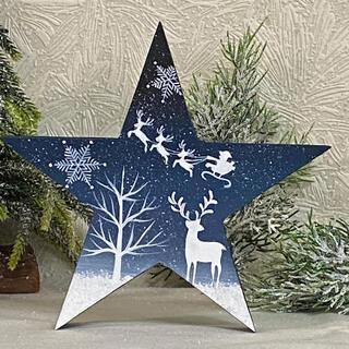 【新作】クリスマスオブジェ【星型】(大)【クリスマス xmas】【北欧】(その他)