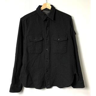 エンジニアードガーメンツ(Engineered Garments)の【H】エンジニアードガーメンツ ウール 袖ポケット CPO チンスト シャツ M(シャツ)