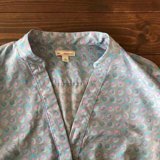 ギャップ(GAP)のGap 淡色ライトブルー スキッパーシャツ 水玉トップス(シャツ/ブラウス(長袖/七分))