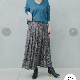 カプリシューレマージュ(CAPRICIEUX LE'MAGE)の美品 カプリシューレマージュ レオパードロングスカート(ロングスカート)
