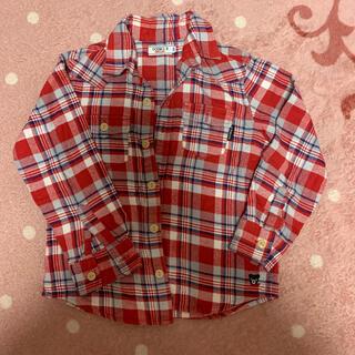 ミキハウス(mikihouse)のミキハウス 赤チェックネルシャツ120(ブラウス)