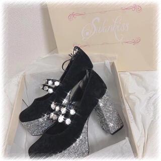 スワンキス(Swankiss)のSwankissスワンキスEV bijou velour shoes即購入不可❌(ハイヒール/パンプス)