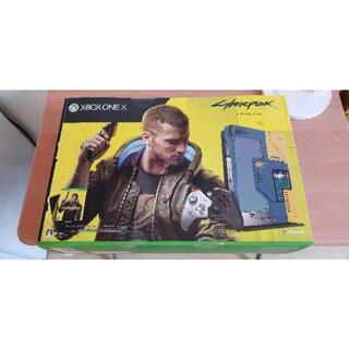 エックスボックス(Xbox)の【新品未開封】Xbox One X サイバーパンク2077 1TB 数量限定(家庭用ゲーム機本体)