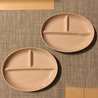 ベルメゾン(ベルメゾン)のオーバル 仕切りプレート 2枚セット(食器)