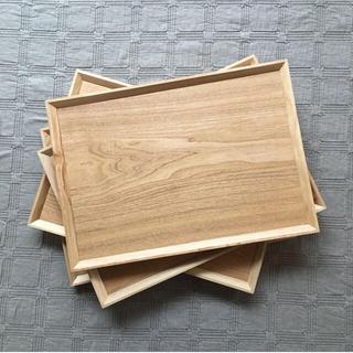 ムジルシリョウヒン(MUJI (無印良品))の木製トレー カフェトレー 2枚セット(テーブル用品)