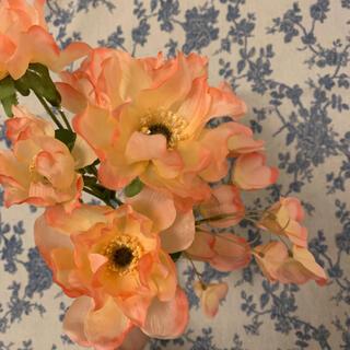 フランフラン(Francfranc)のフランフラン アートフラワー 造花 アンドロメダ アネモネ ピンク オレンジ (花瓶)