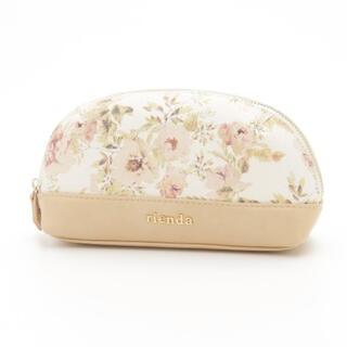 リエンダ(rienda)の【コメントなしの即購入OK!!】rienda ♡ フラワーポーチ ホワイト(ポーチ)