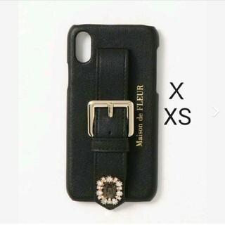 メゾンドフルール(Maison de FLEUR)のメゾンドフルール ビジューバックルベルトiPhoneX/XSケース(iPhoneケース)