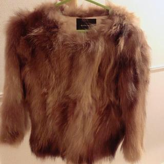 ローズバッド(ROSE BUD)のrose bud raccoon ファージャケット(毛皮/ファーコート)