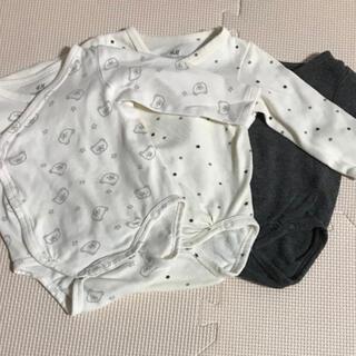 エイチアンドエム(H&M)の新生児〜 オーガニックコットン肌着3枚セット(肌着/下着)