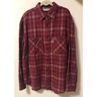 クーティー(COOTIE)のcootie チェックシャツ ネルシャツ 長袖シャツ Sサイズ(シャツ)