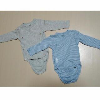 エイチアンドエム(H&M)の新生児〜 オーガニックコットン肌着 2枚セット(肌着/下着)
