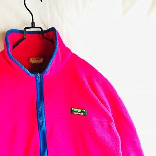 エルエルビーン(L.L.Bean)の90's USA製 LL BEAN フリースジャケット アメリカ古着(ブルゾン)