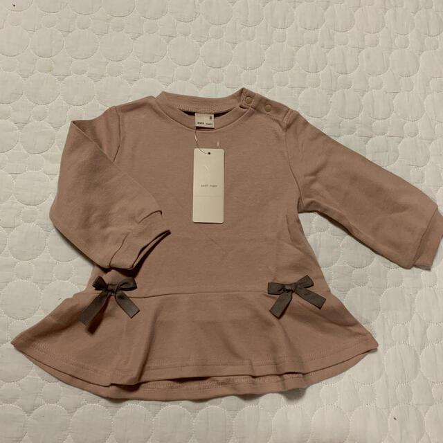 petit main(プティマイン)のプティマインリボンチュニック キッズ/ベビー/マタニティのベビー服(~85cm)(シャツ/カットソー)の商品写真