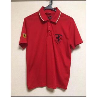 プーマ(PUMA)のプーマ フェラーリ ポロシャツ 赤 メンズ S 派手(ポロシャツ)