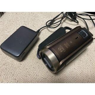 キヤノン(Canon)のCANONビデオカメラ■iVIS HF R62■(ブラウン)中古品①(ビデオカメラ)