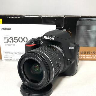 ニコン(Nikon)の新品級 Nikon D3500 AF-P 18-55レンズKIT 198ショット(デジタル一眼)
