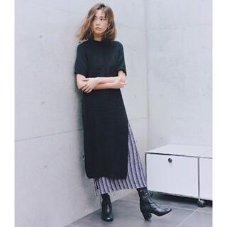 ステュディオス(STUDIOUS)のtan ニットスカート 桐谷美玲さん着用(ロングスカート)