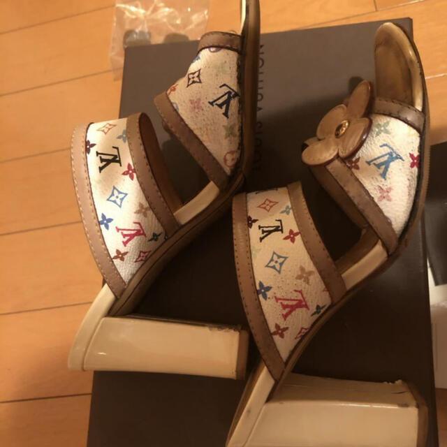 LOUIS VUITTON(ルイヴィトン)のルイヴィトン マルチカラー サンダル 靴 シューズ ヒール レディースの靴/シューズ(サンダル)の商品写真