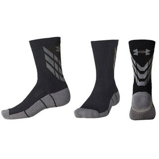 UNDER ARMOUR - 50%オフ アンダーアーマー LG 27 29 ソックス 靴下 ブラック グレー