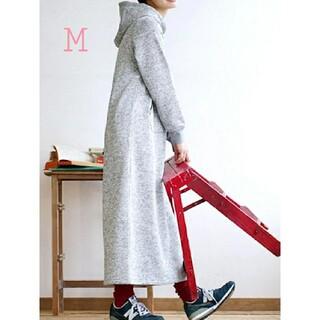 ズーティー(Zootie)のマキシ ニットパーカー M(ロングワンピース/マキシワンピース)