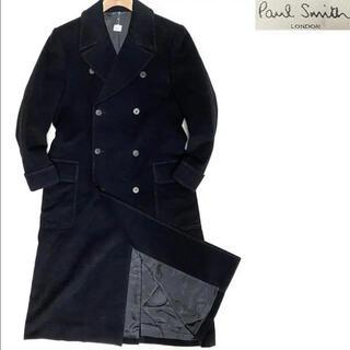 ポールスミス(Paul Smith)の美品 ポールスミス アンゴラ100% チェスターコート チャコールM(チェスターコート)