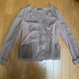 ルシェルブルー(LE CIEL BLEU)の山羊革ジャケット カーディガン ブルゾン(ブルゾン)