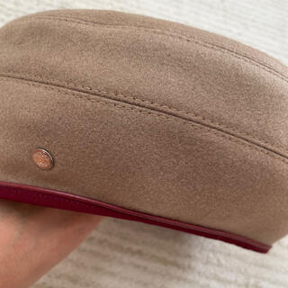 エルメス(Hermes)のエルメス ベレー帽 57 ベージュ(ハンチング/ベレー帽)