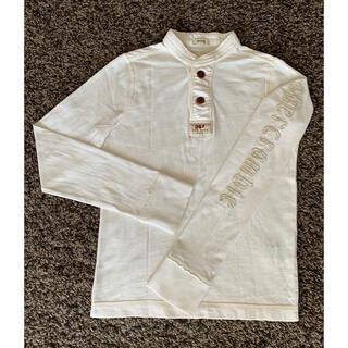 アバクロンビーアンドフィッチ(Abercrombie&Fitch)のアバクロンビーKIDS  生成り アップリケ 厚手ロングTシャツ M(150)(Tシャツ/カットソー)