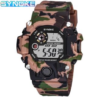 新品 SYNOKE デジタルダイバーズウォッチ ビックフェイス カモフラージュ (腕時計(デジタル))