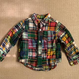 シップス(SHIPS)のSHIPS パッチワークシャツ 80㎝(シャツ/カットソー)