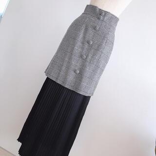 ハニーミーハニー(Honey mi Honey)のハニーミーハニー♡ グレンチェック ロングスカート ミニスカート♡(ロングスカート)
