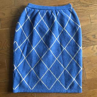 カルヴェン(CARVEN)の Kisslenede  carven PARIS モヘアスカート(ひざ丈スカート)