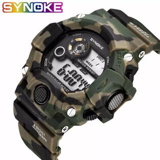 新品 SYNOKE デジタルダイバーズウォッチ ビックフェイス カモフラージュG(腕時計(デジタル))