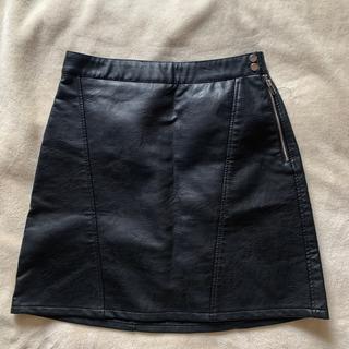 ザラ(ZARA)のzaraレザースカート(ひざ丈スカート)