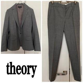 theory - セオリー 美品 パンツスーツ上下 チェック セットアップ