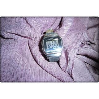 タイメックス(TIMEX)のTIMEX タイメックス クラシック デジタル 腕時計 ブラックデニム(腕時計(デジタル))