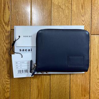 サカイ(sacai)のsacai SHORT ZIP WALLET NAVY 19AW(折り財布)
