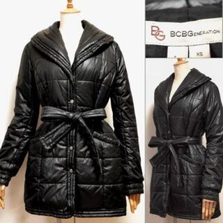 BCBGMAXAZRIA - BCBG★軽くてあったか◎ベルト付中綿コート黒