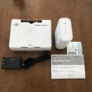 エヌイーシー(NEC)のNEC UQ  WiMAX HOME 02 Wi-Fi ホームルーター(PC周辺機器)