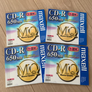 マクセル(maxell)のデータ用CD-R maxell マクセル 4枚(PC周辺機器)