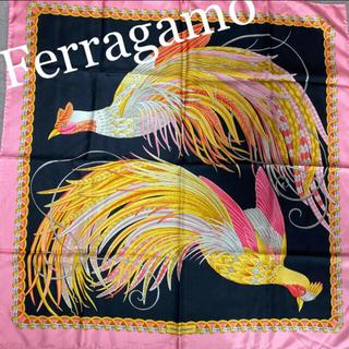 Salvatore Ferragamo - サルヴァトーレフェラガモ 鳳凰 鳥柄 大判スカーフ