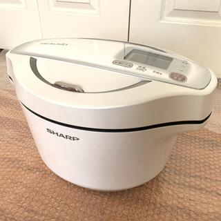 シャープ(SHARP)の【展示品】SHARP KN-HW24E ヘルシオ ホットクック 白 ホワイト(調理機器)