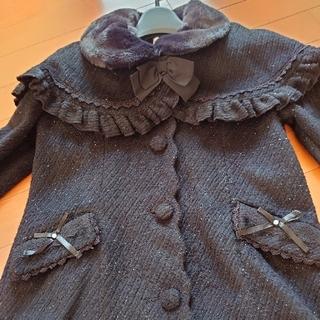 アクシーズファム(axes femme)の【美品】♥️axes femme kids♥️ケープ付きコート。120cm。(コート)