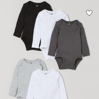 エイチアンドエム(H&M)の長袖ボディースーツ 5枚セット(肌着/下着)