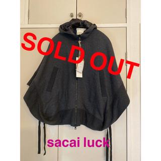 sacai luck - タグ付き未使用品【sacai luck ポンチョ】チャコールグレー M
